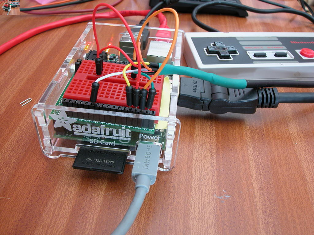 Nes Controller On The Raspberry Pi Gordons Projects Super Nintendo Wiring Diagram A Mini Piio Protoboard