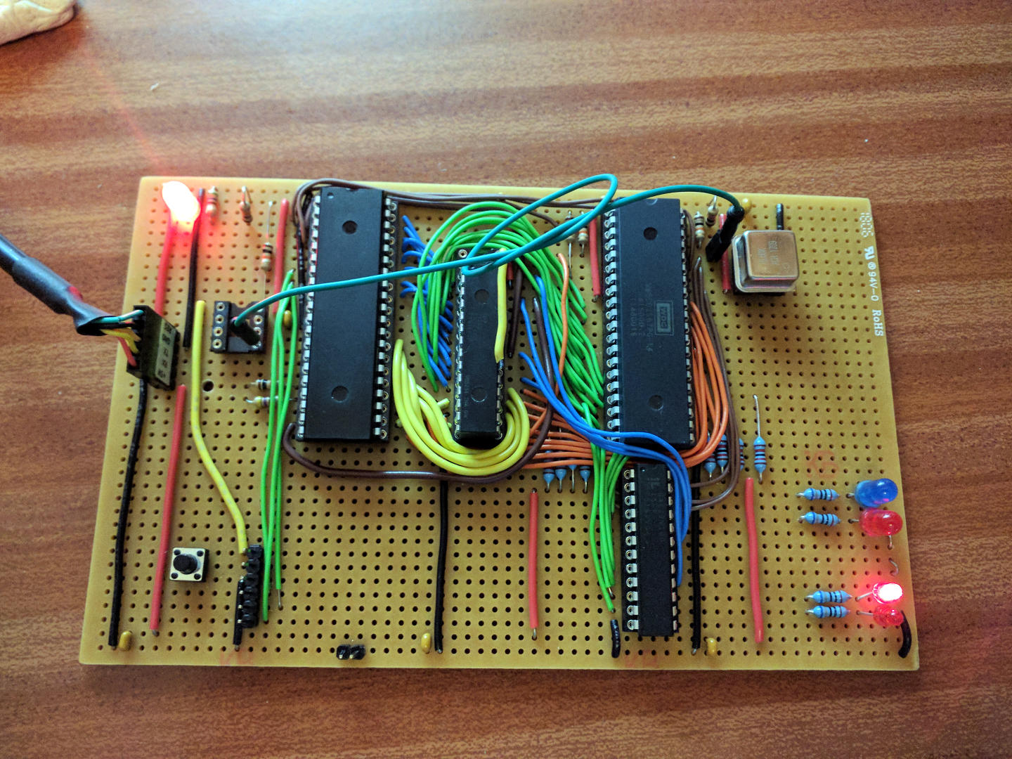 Ruby 6502 on stripboard